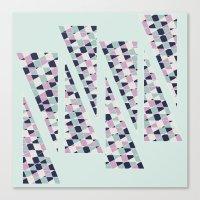 Mint Triangles Canvas Print