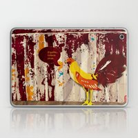 The Rooster Still Bites Laptop & iPad Skin