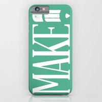 iPhone & iPod Case featuring MAKE by AndyGD