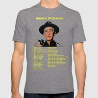 Sherman Potterisms Mens Fitted Tee Tri-Grey SMALL