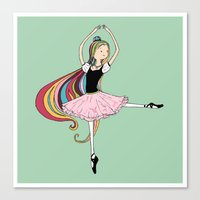 Colorful Ballerina Canvas Print