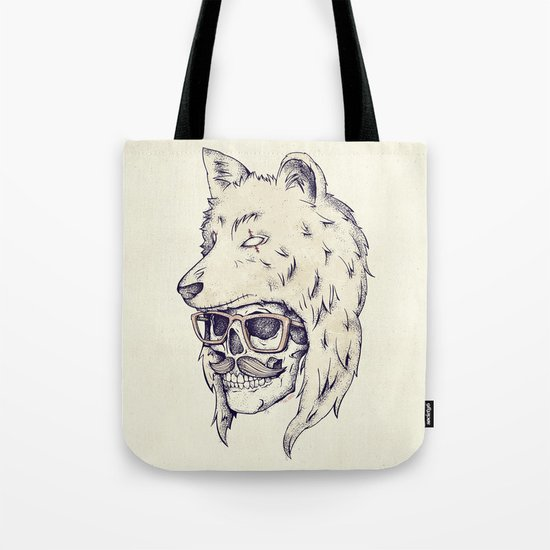 WOLF HAT Tote Bag