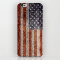 USA Flag - Retro Vintage… iPhone & iPod Skin