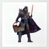 Cat Dad Vader Art Print