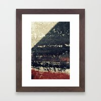 The Red Wall Framed Art Print
