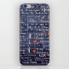 LOVE WALL iPhone & iPod Skin