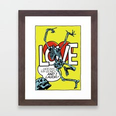 Love Breaks Framed Art Print