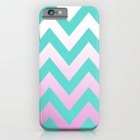 TEAL CHEVRON PINK FADE iPhone 6 Slim Case