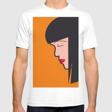 Pop Icon - Mia SMALL White Mens Fitted Tee