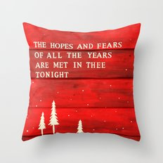Hopes and Fears Throw Pillow