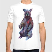 B Bear Mens Fitted Tee White SMALL