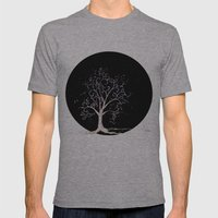 Dark Elven Tree Mens Fitted Tee Athletic Grey SMALL