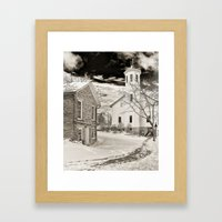 Everal Barn in February Westerville, Ohio Framed Art Print
