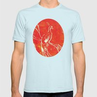 Peacock of Fire Mens Fitted Tee Light Blue SMALL