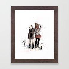 Snowpocalypse Framed Art Print