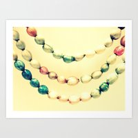 pastel Art Prints featuring pASTel Vintage Beads by 2sweet4words Designs