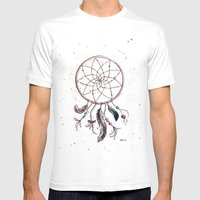 Dream Catcher Mens Fitted Tee White SMALL