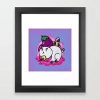 A Chubby Puppycat Framed Art Print