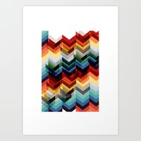 Chevron Multicolour Art Print