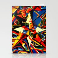 Intermixing Color Star  Stationery Cards