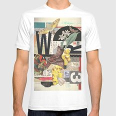 W3 Mens Fitted Tee White SMALL