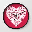 Te Amo Wall Clock