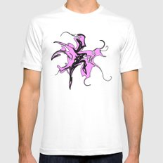splashing Mens Fitted Tee SMALL White