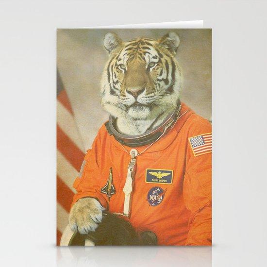 Moon Tiger  Stationery Card