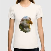 The American Bald Eagle Womens Fitted Tee Natural SMALL