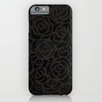 iPhone & iPod Case featuring Cluster of Black Roses by Sean Martorana