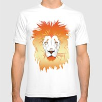 Fire Lion Mens Fitted Tee White SMALL