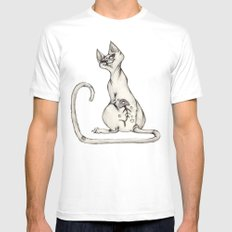 Cats with Tats v.1 Mens Fitted Tee SMALL White