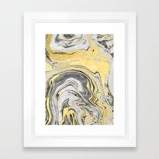 Reiko - Gold Grey Black … Framed Art Print
