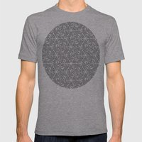 Black Mens Fitted Tee Athletic Grey SMALL