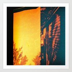 My House My Woods  Art Print