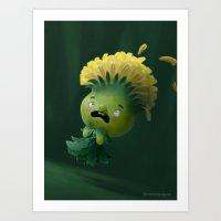 Dandelion-Girl Art Print