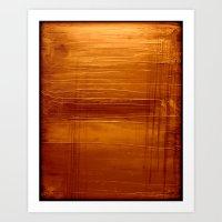 Golden Orange Art Print