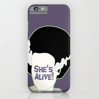 iPhone & iPod Case featuring Bride of Frankenstein by Swell Dame