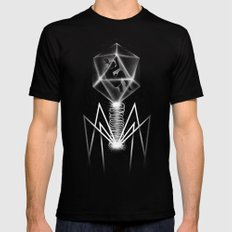 Bacteriophage Mens Fitted Tee Black SMALL