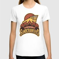 Tatooine SandCrawlers Womens Fitted Tee White SMALL