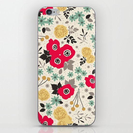 Blumen iPhone & iPod Skin