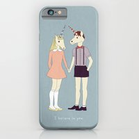iPhone & iPod Case featuring Our love is unique, we are Unicorns (text version) by basilique