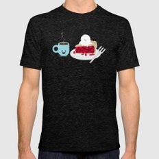 Coffee and Pie Mens Fitted Tee Tri-Black SMALL