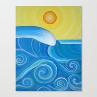 Perfect Surf Canvas Print