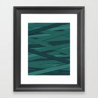 Teal In Love Framed Art Print