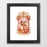 Much Ado About Nothing - Masquerade Ball Dancers - Shakespeare Illustration Art Framed Art Print