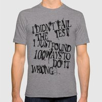 I Did Not Fail (ver. 2) Mens Fitted Tee Athletic Grey SMALL