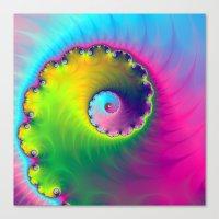 Color Wash Spiral Canvas Print