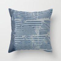 Indgo Paste Print Throw Pillow