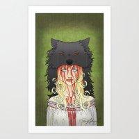 Little Red Ridding Hood Art Print